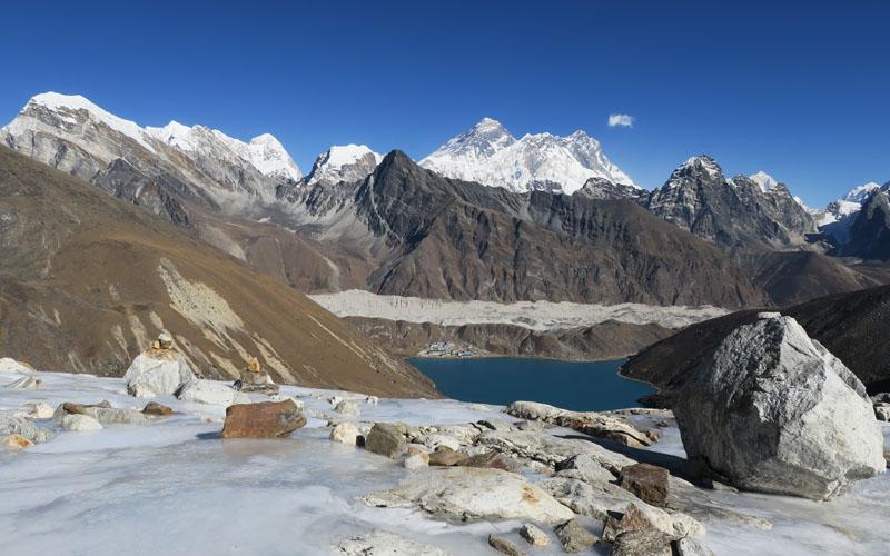 Trekking Himalaja Hunschrauber