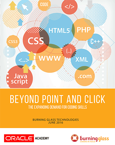 Cover: Beyond Point and Click: The Expanding Demand for Coding Skills