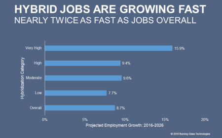 Hybrid jobs are growing twice as fast as jobs overall