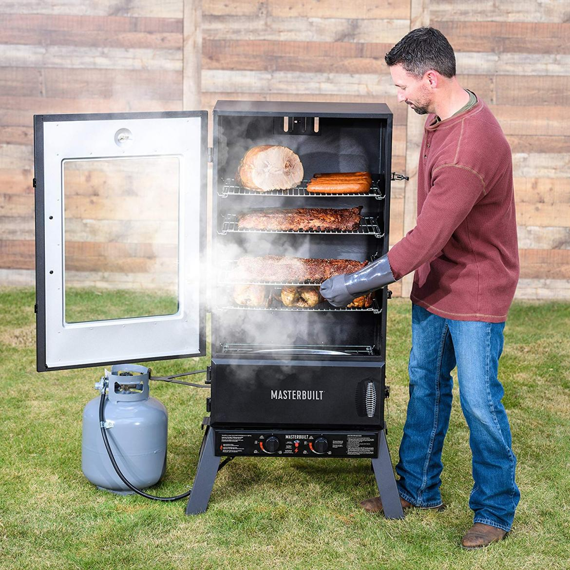best propane smokers xl set forget