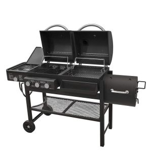 Smoke Hollow Gas-Charcoal-Smoker Combination Grill with Side Burner