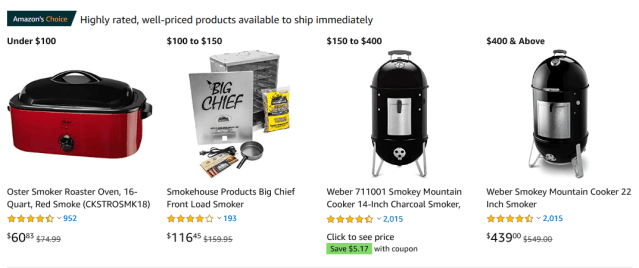 How to Buy a Smoker on Amazon