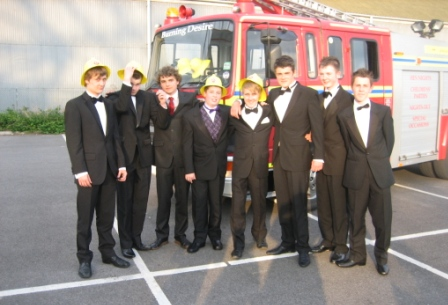 Fire engine limo hire Cheshire School Prom