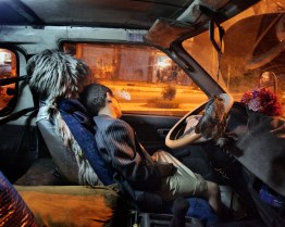 August 2010 – Ibb – A boy sleeping inside a car. Photo Lorenzo Meloni