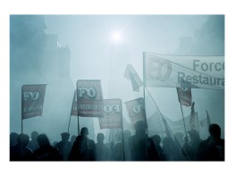 During a demonstration against Sarkozy's government. Paris, France.