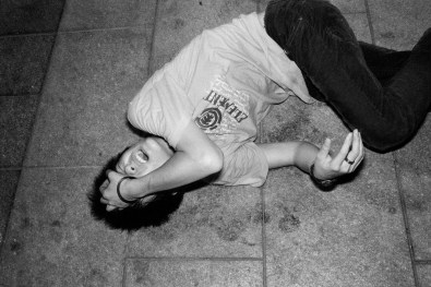 Fallen youth at Workers Plaza in Changsha, China 2007.
