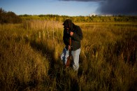 A young MŽtis man hunts ducks in the Athabasca Delta.