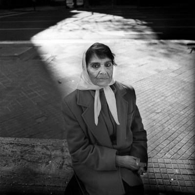 Tati Almeida, a member of the mothers of the May Square movement in Argentina. Ms Almeida had her son Alexander Almeida arrested and disappeard by the Argentine military in the early 70's. Buenos Aires, Argentina, August 2006.