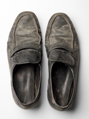 The shoes worn by Gerry Bogacz when he fled the towers.