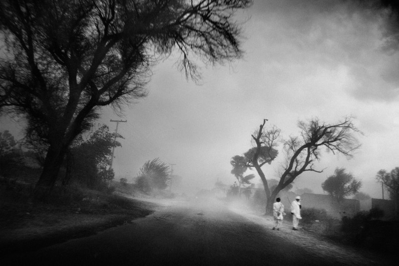 Islamabad, October 2008: Dust storm in the country.