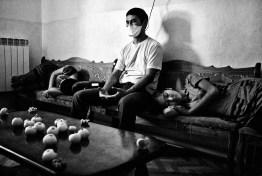 MSF psychologist holding a group meditation session for MDR-TB patients. Nukus, TB hospital No. 2. Uzbekistan, 2010