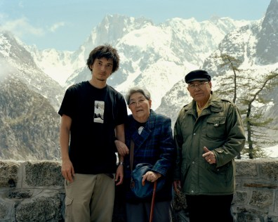 (My grandfather, my grandmother and me)