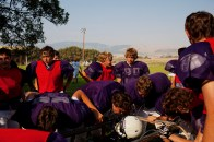 The Whitehall Trojans High School football team practicing in Whitehall, Montana on Tuesday, August 23, 2011.