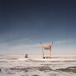 Mongolia, Gobi, Omongov, 2013 A bus stop few kilomenters from the city of Dalanzdgad