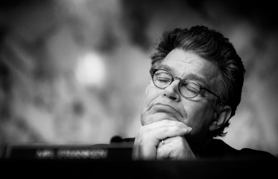 """Feb 2, 2011 - Washington, District of Columbia, U.S. - Senator AL FRANKEN listens to testimony before a Senate Judiciary Committee hearing on """"The Constitutionality of the Affordable Care Act."""".(Credit Image: © Pete Marovich/ZUMA Press)"""