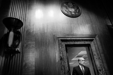 Federal Reserve Board Chairman Ben Bernanke arrives to testify before the Senate Budget Committee on Capitol Hill about the outlook for U.S. monetary and fiscal policy.