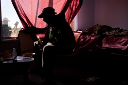 A man prepares to smoke Marijuana from a homemade water bong. Drug and alcohol use soars high above the national averages in Wilcannia, for many a means of temporary escape from the harsh realities of daily life. David Maurice Smith/Oculi.
