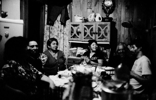 """ONZE"", tiypical Chile breakfast in the small house of Teresa KalfvKoyeya with her friends of the Mapuche community."