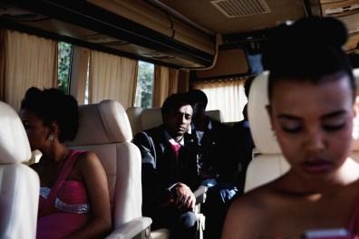 An Eritrean wedding party on a bus in Tel Aviv.
