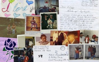 "Collage of material memorializing the murder of Karim ""Cutty"" Muhammad Alexander."