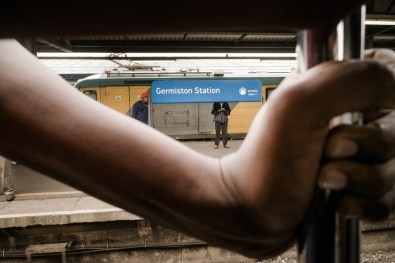 The Germiston station is one of the biggest Johannesburg railway