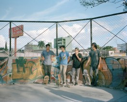 Boys hang out in the gang controlled El ÔOve Park in Tegucigalpa. (Dominic Bracco II / Prime for Pulitzer Center on Crisis Reporting)