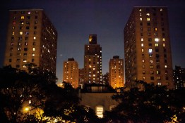 The majority of persons arrested in New York City are either African American or Hispanic. Most live in monolithic apartment complexes called Projects strewn throughout the city. This one is in the Bronx, NYC, 2013.