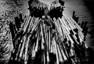 Barge piled with logs from the Borneo interior is brought to one of the saw mills that line the Batang (River) Kemena, Bintulu, Sarawak, Malaysia. According to the United Nations Environment Programme - World Conservation Monitoring Centre (UNEP-WCMC), 2004 World Database on Protected Areas Malaysia lost an average of 78,500 hectares of forest per year between 1990 and 2000. Between 2000 and 2005, the rate of deforestation actually increased by 85.1%. From 1990 to 2005, Malaysia forest cover decreased by 1.5 million hectares.