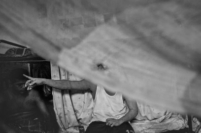 """Nicaragua, Bluefields, may 2011. Inside the cell of """"El Dragon"""" 20 years old, in the underage incarcerated section of the Bluefiled prison. He must serve for 1 year again. Accused of rape."""