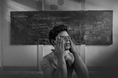 Tipitapa prison, may 2011, Nicaragua.Accused of rape. Fernando, 17 years old, inside the recreational classroom. He must serve 5 years again for murder.
