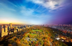 Central Park, View from Essex House, NYC, Day to Night, 2014