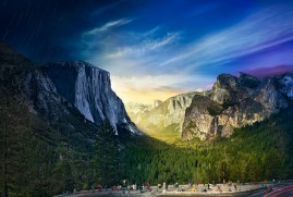 Tunnel View, Yosemite National Park, Day to Night 2014
