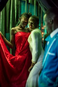Contestants wait backstage at the Mister and Miss Pride competition. Kampala, Uganda. August 7, 2015. © Diana Zeyneb Alhindawi