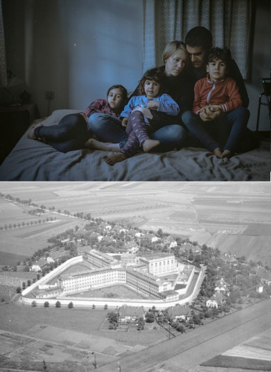 My sister Anna and her family. Her husband Ran is Israeli, they have three kids. During Nazi Germany her whole family would have been deported. Above: The Prison where my great-grandfather was a political prisoner during Nazi Germany.