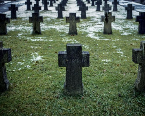 "Graves with the inscription ""unknown"" in German in a cemetery in Engelskirchen, Germany, of World War II. Engelskirchen is a small town where I grew up. It was heavily bombed shortly before the end of the war."