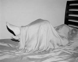 Melissa under sheets, Charlottesville, Virginia