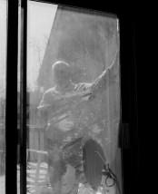 Dad through the door, Smithfield, Virginia