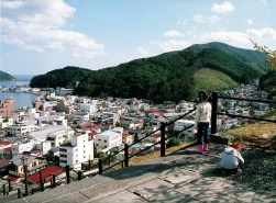 This was our town before the tsunami. It was taken by my father in 2006. Onagawa, a town with a population of 10,000, was a small fisherman?s village, one of the world's top fishing spots. 827 people died or went missing.