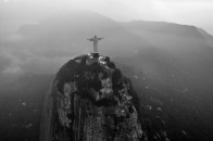 Aerial view of the statue of Christ the Redeemer. June 2016.