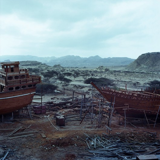 View on the shipyard in Qeshm from a wooden Lenj in construction.
