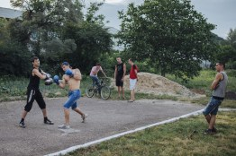 Camenca is a small town 12 kilometers away from Hristovaia village. Young people come to the town stadium several times a week to take part in sports.