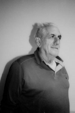 A portrait of Miša Bukumirović, 70, taken at his home. Now he lives with his wife who he met in Vinkovci, Croatia in 1970.