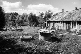 """A well in the garde of D. D's husbind tried to commit suicide in the well. Lithuania, Katiliškiai, 20th of May 2016. D. wrote: """"When I saw my husband descending into the well, I got very scared, but I no longer remember what I thought. As I asked him to get out of there, he told me he could no longer do it. With the help of my mother and daughter we pulled him up."""""""
