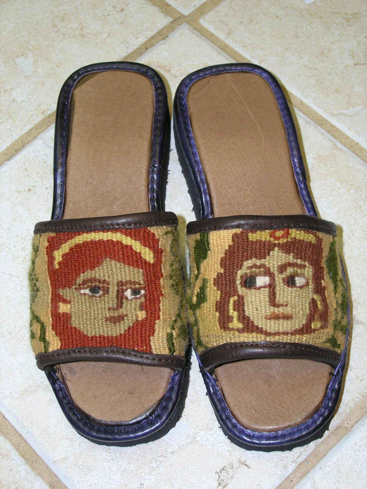 Tapestry Shoes: Coptic Ladies