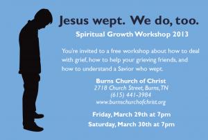 Jesus Wept - Postcard - back