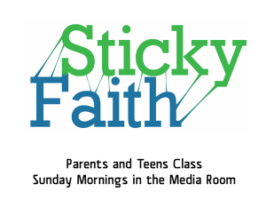 "Sticky Faith is a study for parents and their high schoolers about developing faith that ""sticks"" and discussing why, too often, it doesn't."