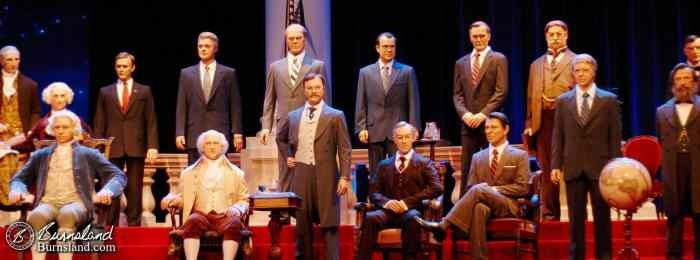 Some of the figures in the Hall of Presidents built by MAPO