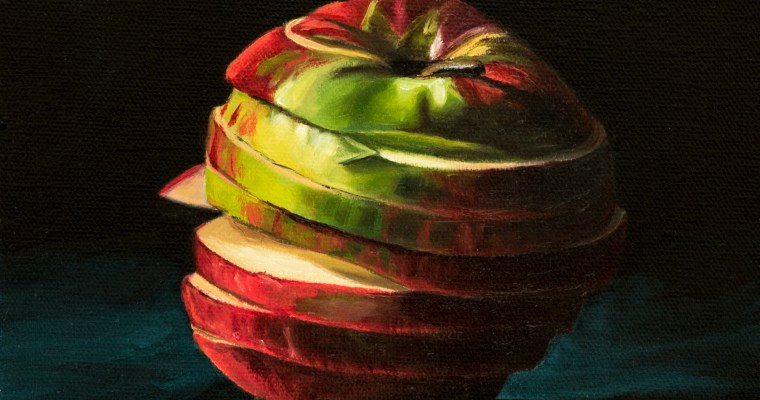 Sixth Apple Still Life – Sliced Not Diced