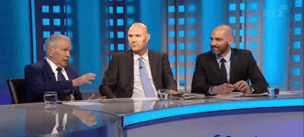 UFC Croke Park: A pale looking Dana White promoting Giles v Sadlier on RTE.