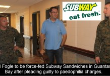 Jared Fogle to be force-fed Subway